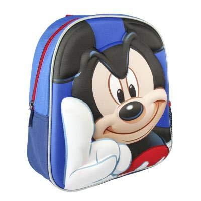 Cerdá 3d Mickey Zainetto per bambini, 31 cm, Blu (azul)