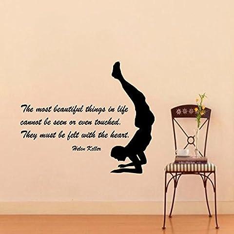 decorrooms cita la más hermosa cosas en la vida no puede ser visto gimnasta deporte cita arte adhesivo vinilo adhesivo diseño de interiores gimnasio