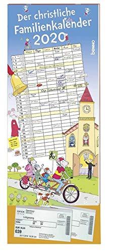 Der christliche Familienkalender 2020: Mit sechs Spalten und Klarsichttasche
