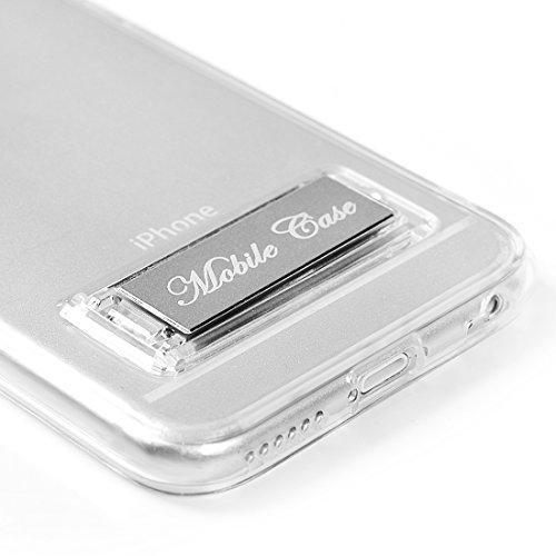 """Coque iPhone 6G Plus/iPhone 6S Plus(5.5"""") - Lanveni Etui Housse Case de Protection Dessin Coloré en TPU Souple Léger Flexible avec Support en Métal Argent Argent"""