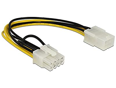 DeLOCK Power Cable PCIE 6-Pin Female to 8-Pin Male PCIE
