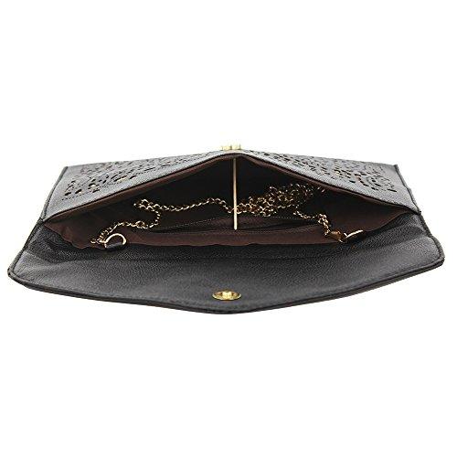 Imentha Sacchetto di Crossbody del messaggero del Tote della spalla borsa signora Satchel delle nuove donne di modo Clutch Donna Pochette Donna (nero) Black