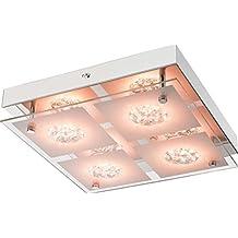 LED Deckenlampe Mit Fernbedienung Dimmbar Schlafzimmerlampe RGB Farbwechsel 25 Cm Deckenbeleuchtung Flurlampe Wohnzimmerlampe
