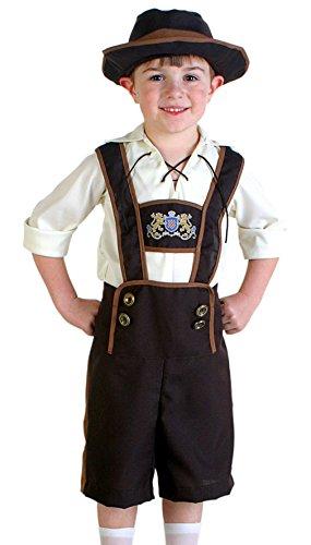 EOZY 3tlg. Kinder Jungen Trachtenhose Oktoberfest Halloween Kostüm L Taille (Karnival Für Kostüme Kinder)