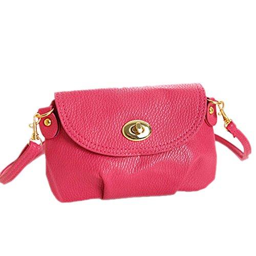DELEY Frauen Vintage Europa Stil Mini Hobo Tote Handtasche Schultertasche Umhängetasche Plum Red