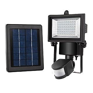 MEIKEE 60 LED Solarleuchte Garten , wetterfeste solarbetriebene LED Lampe mit Bewegungssensor Wandleuchte solarlampe Mehr Sicherheit für Innenhöfe, Balkone, Terrassen, Garagen, Einfahrt & Treppen