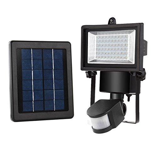 MEIKEE 60 LED Solarleuchte Garten , wetterfeste solarbetriebene LED Lampe mit Bewegungssensor Wandleuchte solarlampe Mehr Sicherheit für Innenhöfe, Balkone, Terrassen, Garagen, Einfahrt & - Sensor Licht Garage