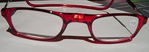 Reading Glasses Prescription imantadas magneticas Click Iman Various Strengths and Colours, red, 1