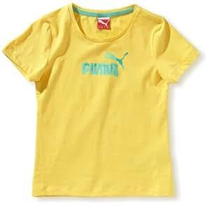 PUMA T-Shirt Fille Td No.1 Logo miel Giallo - goldfinch 104