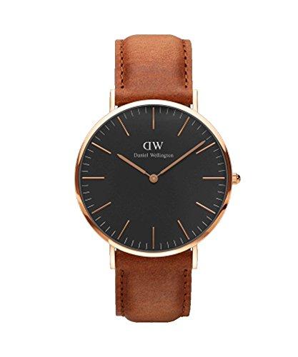 DANIEL WELLINGTON - Men's watch 40 mm, DANIEL WELLINGTON CLASSIC BLACK DURHAM ROSE-GOLD-DW00100126