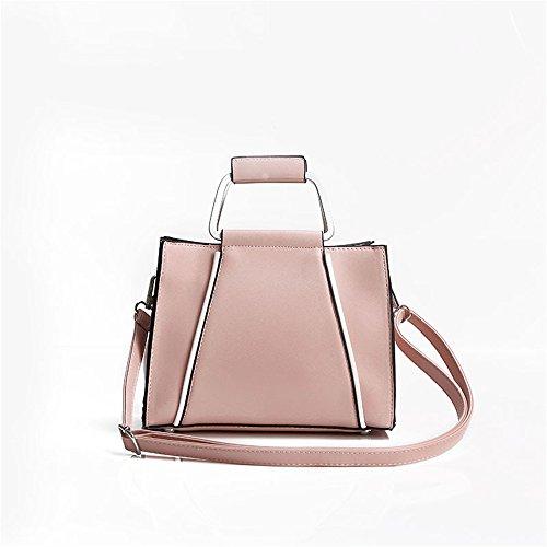 Meoaeo Single Schulter Tasche Tasche Reißverschluss Mode Freizeit Alle Soft-Match Bangalor Grün Pink