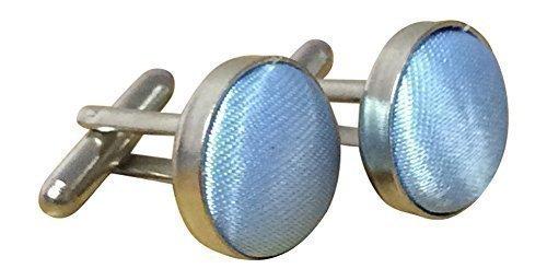 Sock Snob Boutons de manchette unisexe plaqué argent, couleurs assorties - bleu - taille unique