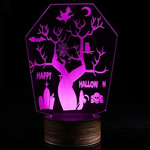 (MARCU Home Holloween Horror Nachtlicht, Decor 3D LED USB Schreibtisch Tischlampe Neuheit Licht für Raumdekor)