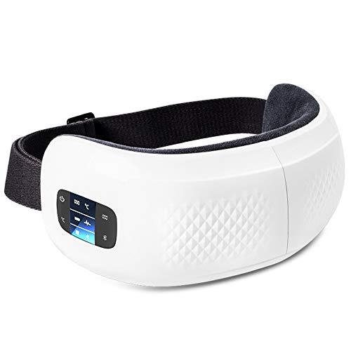 CAREYMORE Elektrisches Augenmassagegerät, intelligente Massage-Augenpflege mit aufladenden Falteigenschaften, lindern die Ermüdung der Augen,Black