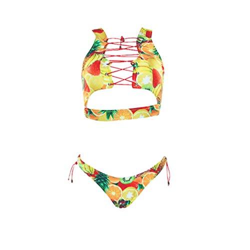 Bikinis Mujer Bikini Bandeau Push Up Trajes de Baño de Bonitos Traje de Baño Natacion Bañadores Dos Piez