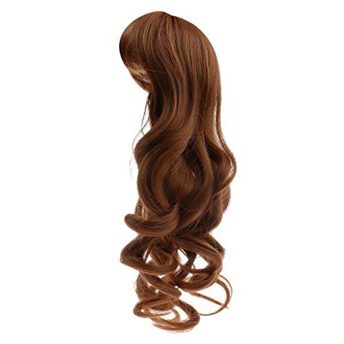 Niedlich Puppen Perücke Gewelltes Haar Perücke Haarteil Für 1/6 Blythe Puppe 30cm - Braun (Blythe-puppe, Kopf)