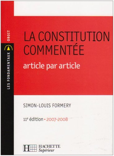 La Constitution commente : Article par article