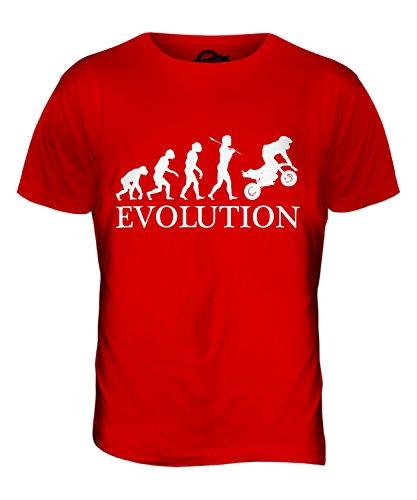 CandyMix Pocket Bike Mini Moto Evolution Des Menschen Herren T Shirt Rot