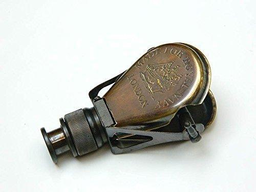 Nautical World 54215y - Cristal de espía monocular Fabricado para Royal Navy-London (latón Envejecido)