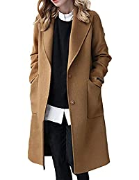 Sevozimda Femmes Laine Manteaux Trench Manches Longues Hiver Laine Long  Manteau Outwear f6a4affc22f2