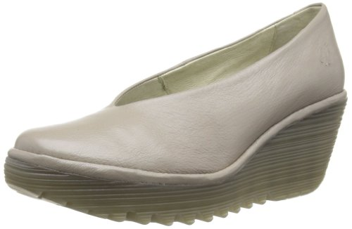 Fly London Yaz, Chaussures de ville femme Beige (Mushroom)