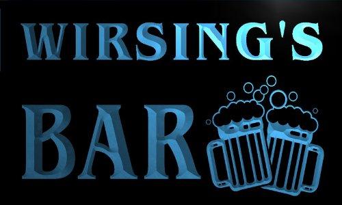 w042525-b WIRSING Name Home Bar Pub Beer Mugs Cheers Neon Light Sign Barlicht Neonlicht Lichtwerbung