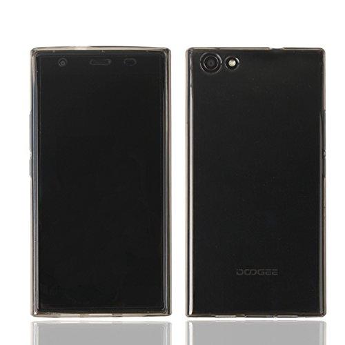 Guran® Weiche Silikon Hülle Cover für Doogee Y300 Smartphone Bumper Case Schutzhülle-grau
