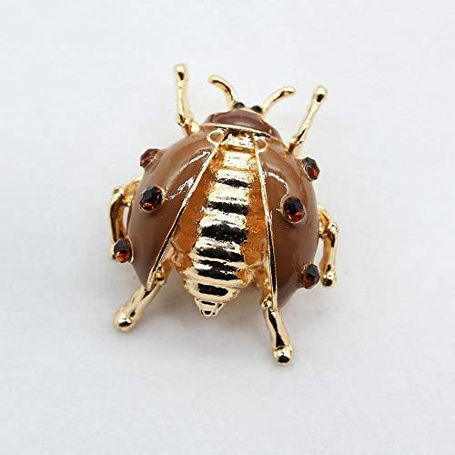 Ludage Exquisite Brosche Alloy Drop Emaille Brosche Bestnote Insekt Käfer Corsage Kostüm Zubehör Männer und Frauen allgemein Marienkäfer Brosche
