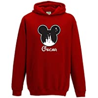 SMARTYPANTS [Kids] Personalised Disney Mickey Name Hoodie Choose Your Name and Colour