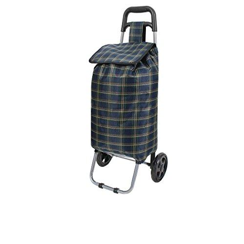 Amazinggirl Einkaufstrolley Einkaufswagen mit Abnehmbarer Tasche Einkaufsroller (Dunkelblau, 42 L)