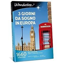 Wonderbox - Cofanetto Regalo per San Valentino - 3 Giorni da Sogno in Europa - 1660 SOGGIORNI per 2 Persone