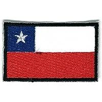 Parche de planchado con la bandera de Chile bordado, tamaño mediano