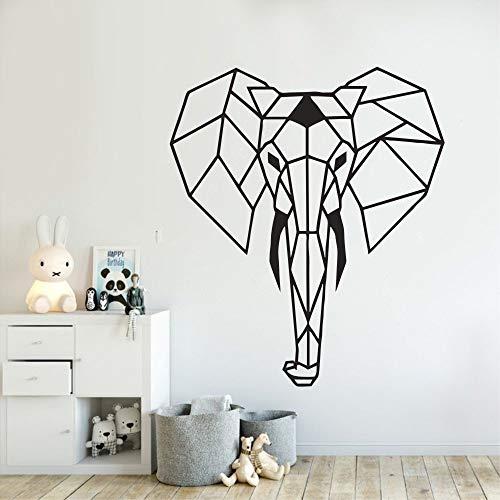 nkfrjz Wandtattoo Geometrie Design Elefant Wand Dekor Aufkleber Kindergarten Kinderzimmer Kunst Schlafzimmer Dekor Poste Wand Dekorativer Aufkleber 42X50CM