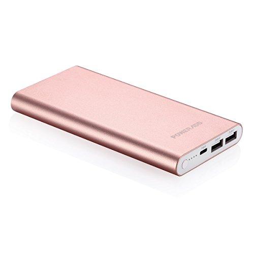 Poweradd Pilot 4GS 12000mAh Batterie Externe Portable Grande Capacité avec Deux USB (3A+3A) Charge Rapide pour Iphone 6/6plus, Iphone7/7plus, Ipad, Galaxy S6 Et d'Autres Smartphones-Rose Doré