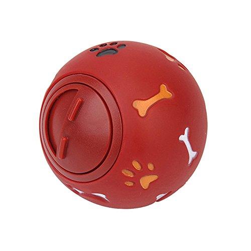 Roblue Hunde Spielzeug Für Welpen Interaktive Hundespielzeug Haustier Kauen Futter Gummi Ball 7,5cm
