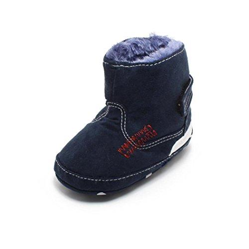 Hunpta Babyschuhe Mädchen Jungen Lauflernschuhe Baby Kleinkind Kind Schnee Stiefel Soft Sole Prewalker Krippe Schuhe (11, Dark Blue) Dark Blue