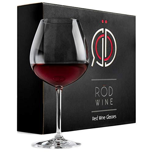 Rotweingläser Set aus hochwertigem Titan Kristallglas, 650 ml | 3-teiliges Kristallgläser & Weingläser Set mit luxuriöser Aufbewahrungsbox | das perfekte & edle Rotwein Weinglas Hochzeitsgeschenk