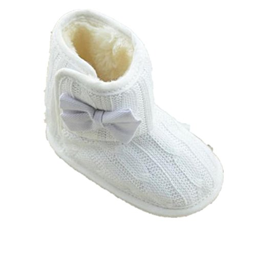 BZLine® Baby weiche Sohle Bowknot Winter warme Stoff Schuhe Bowknot Sohle Stiefel ... b699d0