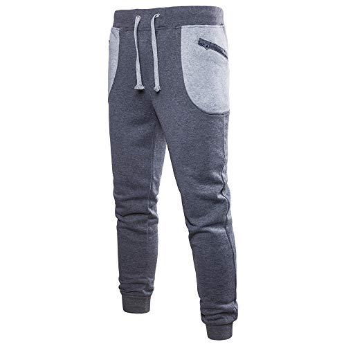 Elecenty Herren Taschen Sportswear,Männer Hosen Patchwork Jogginghose Overall Trainingsanzug Sporthosen Hosen