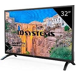 TD Systems K32DLM8HS - Televisor Led 32 Pulgadas HD Smart, Resolución 1366 x 768, 3x HDMI, VGA, 2x USB, Smart TV