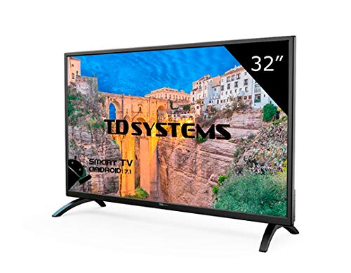 TD Systems K32DLM8HS - Televisor Led 32 Pulgadas HD Smart, Resolución 1366 x 768, 3x HDMI, VGA, 2x USB, Smart...
