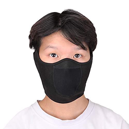 Magarrow Halb-Face Maske Winter Warm Halbe Gesichtsmaske Skifahren Motorrad-Snowboardsport Unisex (Schwarz)