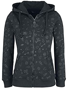 Gothicana by EMP Freaking out Loud Chaqueta con Capucha Mujer Negro