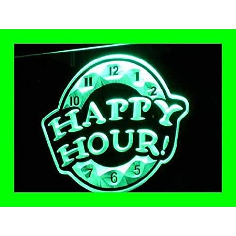 Cartel Luminoso ADV PRO i257-g HAPPY HOUR Beer Bar Pub Club NEW Neon Light Sign