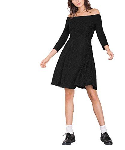 ESPRIT Collection 106EO1E016, Vestito Donna, Nero (Black), 38 (Taglia Produttore: Medium)