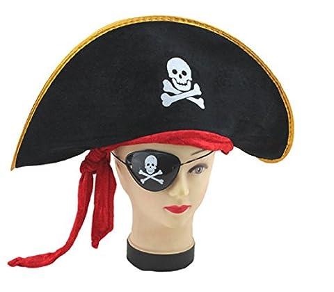 Chapeau De Pirate Adapté Pour Les Adultes Et Les Enfants