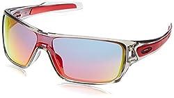 Oakley Men's Turbine Rotor Non-polarized Iridium Rectangular Sunglasses, Grey Ink With Ruby Iridium, 132 Mm