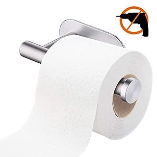 tronisky Toilettenpapierhalter Ohne Bohren, Papier Halter Selbstklebend Edelstahl Klopapierhalter Toilette Rollenhalter WC Papierhalter für Küche und Badzimmer, Sliver 545 10