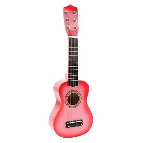 TOYMYTOY Kindergitarre tragbare 21 Zoll Akustikgitarre für Kinder Anfänger (Rosa)