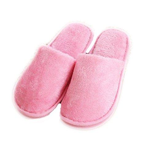 Auspicious beginning Chaussures dintérieur couleur unie pour adultes Chaussures dintérieur couleur unie pour couples pink (femmes)